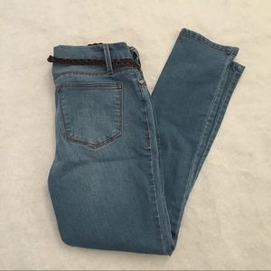 3/$9 Faded Glory Skinny Petite Jeans with belt